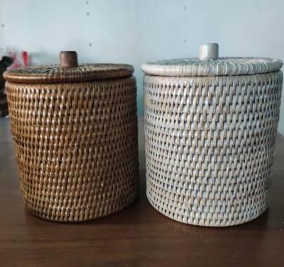 Pot haut avec compartiment PVC