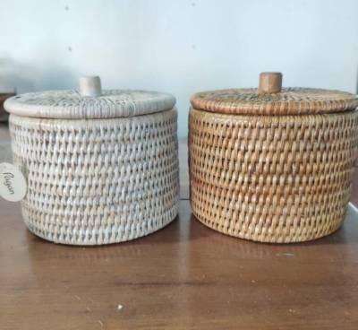 Petit pot avec compartiment PVC